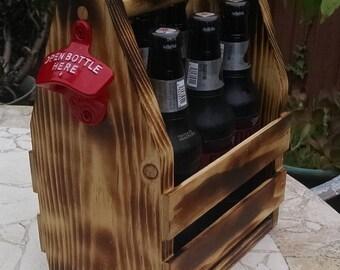 Wooden Beer Carrier / Caddy