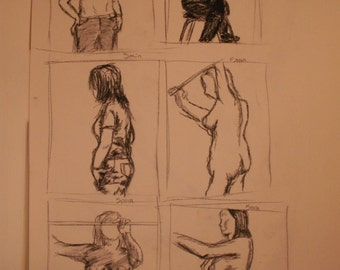 Gesture drawing, quick study