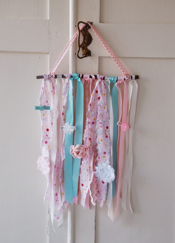 Wall Decorations With Ribbon : Ribbon branch jewelry holder wall decor for children