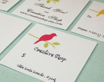 EDITABLE Printable Bird on Branch - Address Labels, Business Cards, Hang or Price Tags, Gift Tags, - YOU change the text again and again