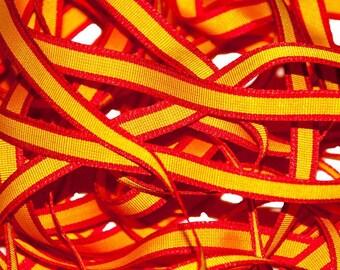 Spain Flag Spanish Grosgrain Ribbon 7 mm