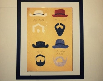 Django of minimalist movie poster
