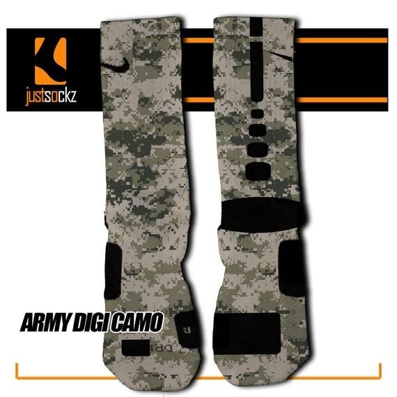 army digi camo custom nike elite socks by floccostradingpost
