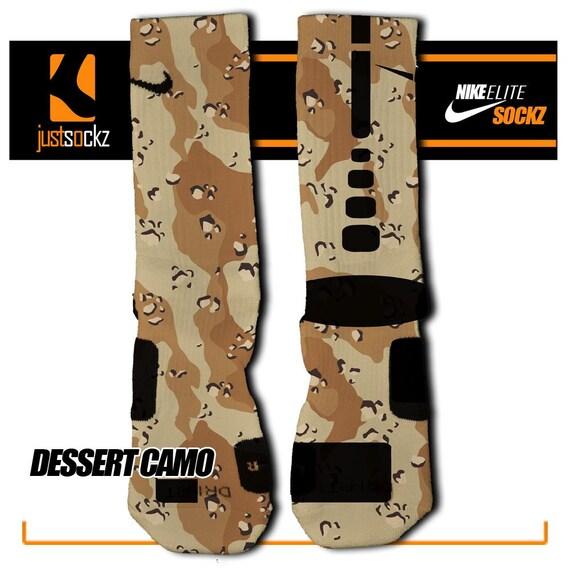desert camo custom nike elite socks by floccostradingpost