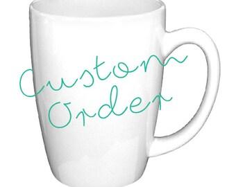 14 oz Custom White Coffee Mug