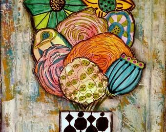 flower print, floral print, whimsical print, wild flowers
