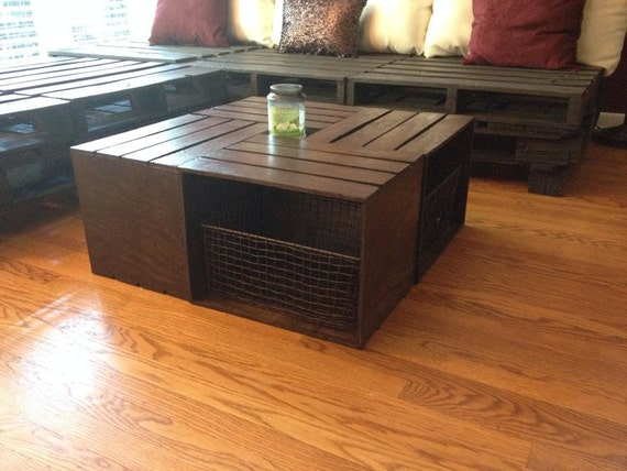 Milk Crate Coffee Table By VFurnitureCo On Etsy
