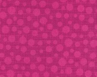 Michael Miller Fabric - Hash Dot Magenta