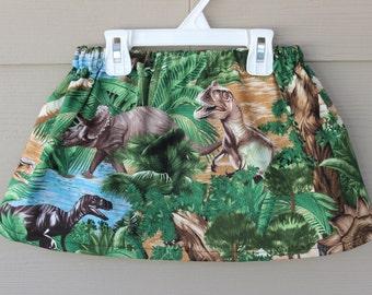 Girls Skirts Toddler Girls Dinosaur Skirt, Dinosaur Print in Jungle Skirt