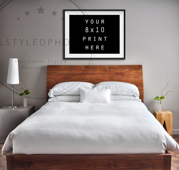 bedroom empty frame black frame 8x10 marketing styled