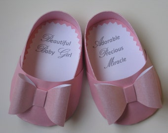 Baby Girl Pink Shoe Card