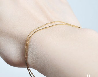 Fine Chain Bracelet - Modern jewelry,Simple jewelry for everyday