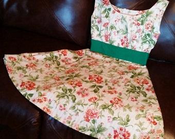 Curtain/Floral Summer Dress