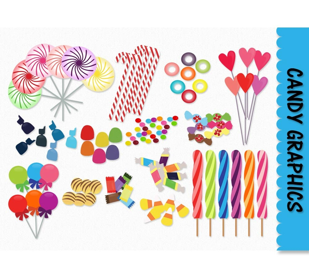 Candy Clip Art Candy Graphics Clipart Scrapbook Lolly Pop