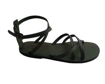 Sandals Handcrafted Ladies in Leather and Leather