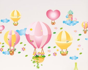 Nursery Balloon Wall Decals, Nursery Wall Stickers, kids' room Wall Decals, Balloon Wall Decals