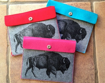 "Red ""Buffalo"" iPad tablet case"