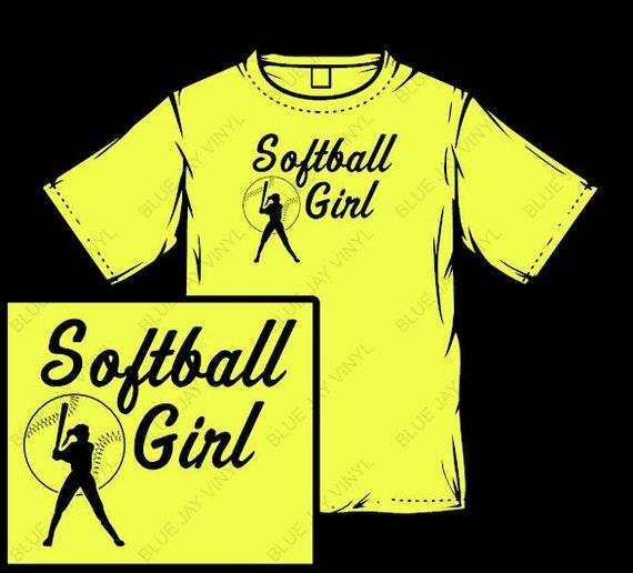 Yellow Softball Shirts Softball Girl Shirt Yellow
