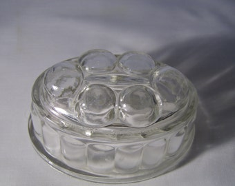 Vintage Glass Jelly Mould. Gorgeous piece of old world charm.