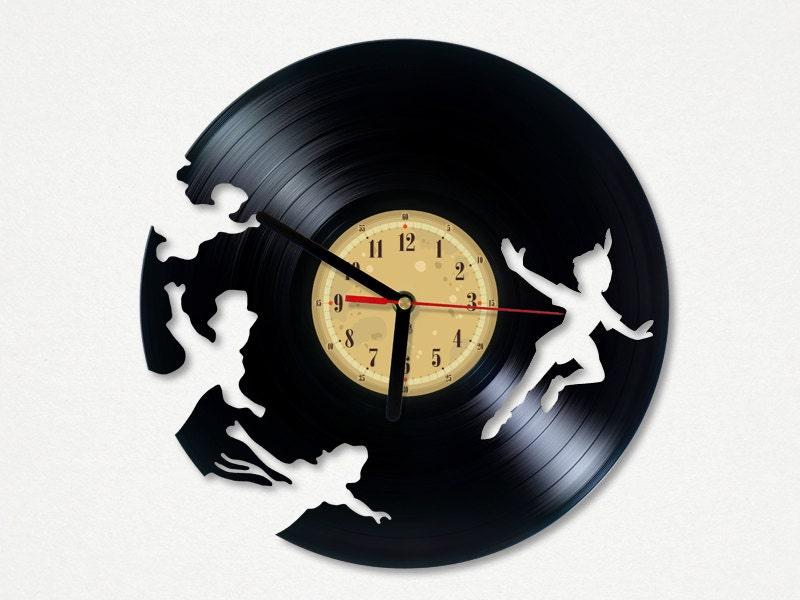 Peter Pan Clock Tattoo Vinyl Clock Peter Pan