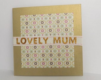 Gold Mother's Day Card, Mum