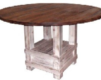 Wood, Dining Table, Reclaimed Salvaged Pine, Rustic, Kitchen Table, Handmade, Shabby Chic
