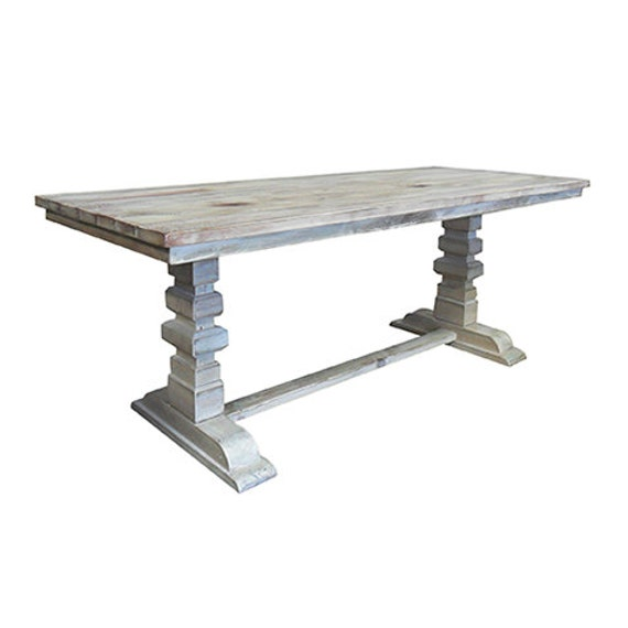 Table Dining Table Reclaimed Wood Dining Table Trestle