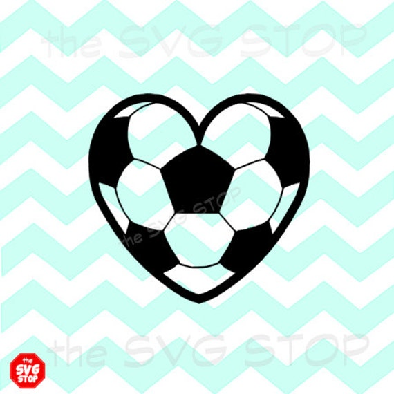 Soccer Heart Design Svg And Studio Files For Cricut