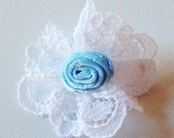 Offray Mini Ribbon Rosette on Lace Circlet