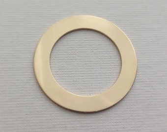 Gold Fill Washer Circle hand stamping Blank 32mm 1.25 inch 20g