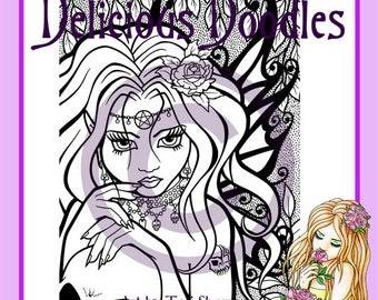Digital Stamp - Gothic Fairy