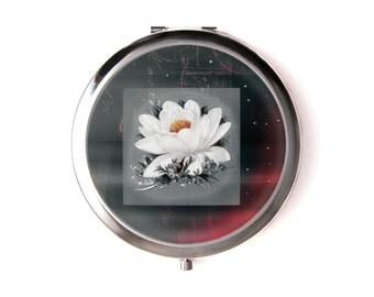 Mystical flower mirror & Organza pouch