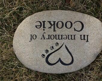 Custom Engraved Pet Memorial Stone, Engraved Pet Memorial Rock,personalized pet memorial stone,Pet Memorial Plaque,Pet Memorial Garden Stone