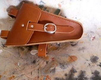 Genuine Leather, hand stitched, bicycle tool bag, saddlebag.