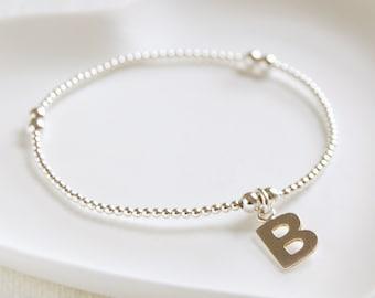 Personalised Silver Initial Bracelet