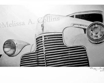 1940 Chevrolet Graphite Drawing