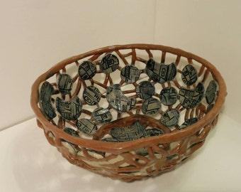 Ceramic Fruit Colander/Bowl