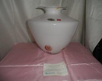 Azzurra Vase made by Maestri Vetrai Made in Italy