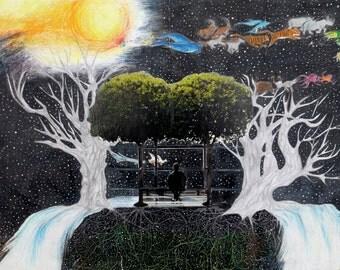 Space Haven Art Print