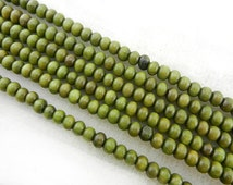 216pc 4MM Green PALO SANTO Beads Meditation Buddhist Japa Mala Necklace
