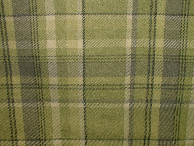 Elgin Sage Green Wool Effect Washable Thick Tartan Plaid