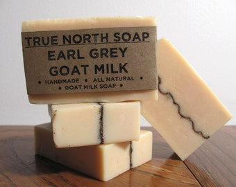 Earl Grey Goat Milk Soap- Handmade Soap, Cold Processed Soap, All Natural Soap