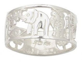 Sterling Silver Good Luck Ring, Silver Lucky Charms Ring, Lucky Charm Ring, Silver Good Luck Ring, Anillo Buena Suerte
