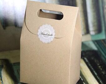 30pcs Hot Natural Brown Kraft Paper Box Biscuit Cookie Box,Paper Gift Packaging Treat Box Box dimension: 10 L x 6W x 15H cm