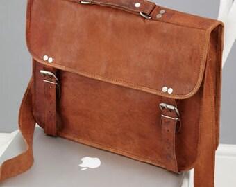 "Leather Laptop Bag - Size: 14""x10"" By Vida Vida"