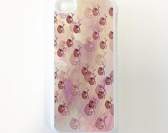 Pink Chameleon Pattern iPhone Case 4/4s 5/5c/5s 6/6plus