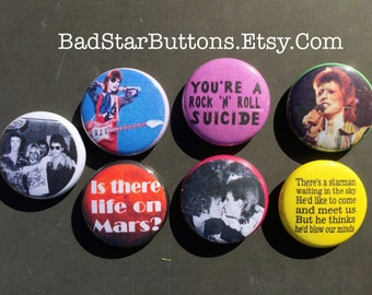 David Bowie, Ziggy Stardust Glam Rock Button Set