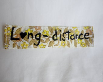 Long-Distance Heart- Beautiful Yellow Upcycled 70's Patch