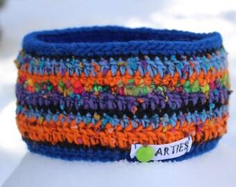 REDUZIERT! Ski Stirnband, Ohrenwärmer, gutes haltbares Material. Winddichtes Futter aus Polarfleece.  Earwarmer, crocheted. Bandeau du laine