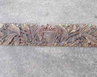 Antique Carved Wooden wall Hanging